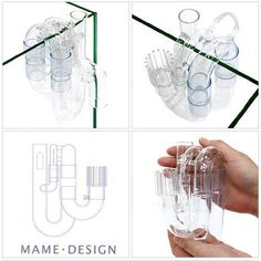 MAME Design External Glass Overflow. Clean looking design that would look great on rimless freshwater or saltwater tank with a sump.