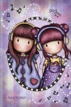 Cute Cartoon Girl, Scrapbook Cards, Scrapbooking, Cute Cartoon Wallpapers, Animal Paintings, Sweet Girls, Pattern Wallpaper, Cute Art, Illustration