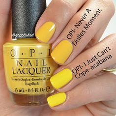 And Here Is A Better Comparison On The Nails You Can Really See Mustard Shade When Compared To IJCC Yellow Isnt Favorite Polish Color For Me