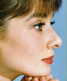 Audrey Hepburn, beautiful profile of her..
