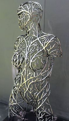 "Original steel sculpture by Scott Wilkes "" Life from the vine "" 2019 Human Sculpture, Metal Art Sculpture, Steel Sculpture, Contemporary Sculpture, Welding Table, Metal Welding, Welding Art, Welding Torch, Welding Flux"