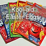 Your kids will love creating vibrant colored Easter eggs with Kool-aid.