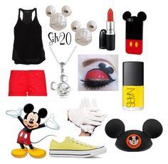 """Mickey"" by silvermist20 ❤ liked on Polyvore featuring rag & bone, MANGO, Disney, Converse, MAC Cosmetics and NARS Cosmetics"