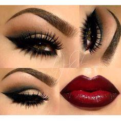Dramatic Bold eyes & Lips