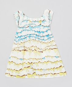 Look what I found on #zulily! Yellow & Blue Bow Swing Tunic - Infant, Toddler & Girls #zulilyfinds