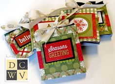 Christmas boxes, all tied up with strings! | DCWV