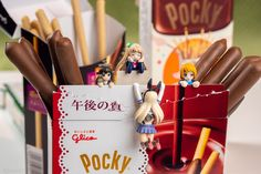 I treated some tiny idols and boats to some giant Pocky treats in celebration of Pocky day Finding A New Hobby, Vr Games, Figure Photography, Like Chocolate, Anime Figures, New Hobbies, Boats, Celebration, Idol