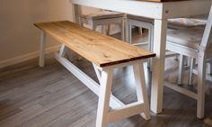 BENK: En hjemmelaget benk passer like godt inne som ute. FOTO: Simen Søvik