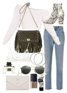 """Untitled #21369"" by florencia95 ❤ liked on Polyvore featuring RE/DONE, Coach, Yves Saint Laurent, Strategia, Ray-Ban, Anine Bing, Charlotte Russe, NARS Cosmetics, Aesop and Gucci"