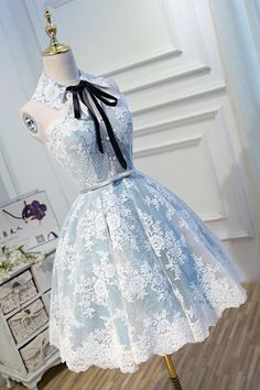 Freshman Homecoming Dresses, Two Piece Homecoming Dress, Lace Homecoming Dresses, Dress Prom, Wedding Dresses, Bridesmaid Dresses, Modest Wedding, Pretty Outfits, Pretty Dresses