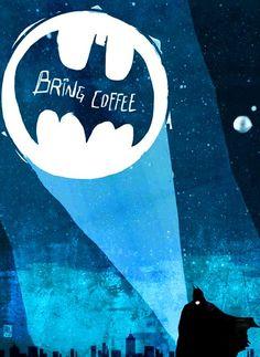 #Batman signal light #coffee ☕Coffee♥Craft☕ Ed Pires #graphic art