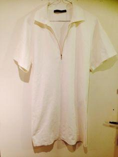 f73d86f2d84430 Magnifique robe blanche Zara Woman Taille S correspond à un 36 Coupe polo , tres  classe