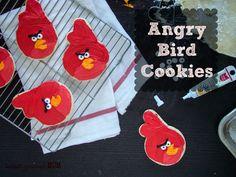 Angry Bird Sugar Cookies  www.budgetgourmetmom.com  #cookies #angrybirds #easytutorial