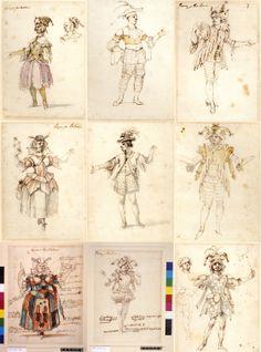 Costume studies for fools Stefano della Bella. Festival Costumes, Theatre Costumes, Amazing Costumes, Cool Costumes, Renaissance Time, Theatre Design, Weird Art, Couture, Clothes Patterns