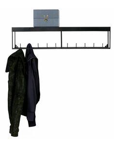 Zwart metalen kapstok Box van Woood. - Stoer Metaal