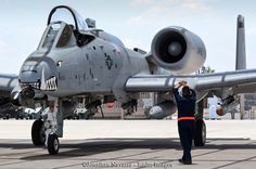 https://flic.kr/p/JdE6rj   HAWG WRANGLER   A crew chief from the 442nd Aircraft Maintenance Squadron (AMXS) recovers an A-10C Thunderbolt II from the 303rd Fighter Squadron out of Whiteman Air Force Base, Missouri.