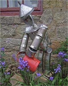 Make your own little tin man for the garden, just don't forget to oil him!