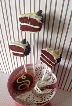 Red Velvet Cake Slice Pop