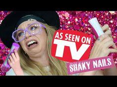 SHAKY SHAKE NAILS! - DOES THIS THING REALLY WORK? - YouTube soooooo funny lol