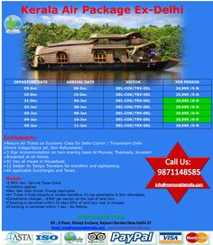 Kerala Air Packages Nov- Dec-Jan 2014