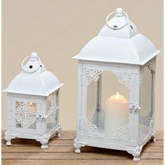 Fém csipkés lantern szett fehér Candle Holders, Candles, Home Decor, Decoration Home, Room Decor, Porta Velas, Candy, Candle Sticks, Home Interior Design