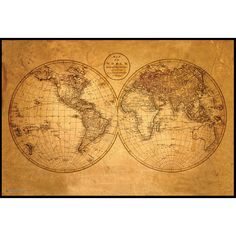 This detailed map of the world pays tribute to the ancient mariner's maps of the 12th and 13th centuries. Woodmounting is the process of laminating your print directly to a board. Once the image is mo