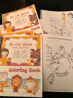 Beauty U0026 The Beast Coloring Books