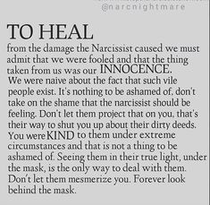 Healing from damage by a narcissist - I have met a few Narcissistic Mother, Narcissistic People, Narcissistic Behavior, Narcissistic Abuse Recovery, Narcissistic Personality Disorder, Narcissistic Sociopath, Trauma, Ptsd, Abusive Relationship