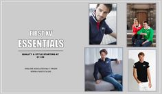 First XV Essentials. #menswear #fashion #style #clothing #t-shirts #poloshirt #jeans #chinos #trousers #shorts #sweatshirt #hoodie #boardshorts #shorts Exclusively from www.firstxv.uk