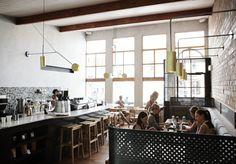 Warehouse Home interior design magazine and shop for industrial style. Coffee Shop Interior Design, Cafe Interior, Interior Design Studio, Cafe Design, Cafe Bar, Cafe Restaurant, Restaurant Interiors, Warehouse Home, Melbourne Cafe