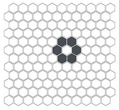 Daisy one inch hexagon tile great for florrs in bathrooms and kitchens.