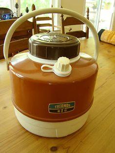 Vintage Brown Thermos Picnic Jug - Very Nice!   eBay