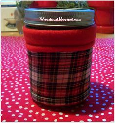 weasinart: Thankful Thursday: Mason Jar Cozy Tutorial