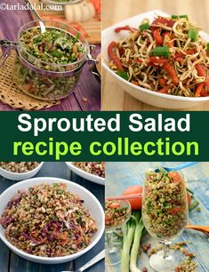 Cooking for Special Occasions Veg Salad Recipes, Salad Recipes For Dinner, Sprout Recipes, Dinner Salads, Raw Food Recipes, Vegetarian Recipes, Cooking Recipes Veg, Cooking Corn, Sprouts Salad