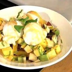 Receita: Misto de Fruta com Mel, Hortelã e Gelado de Limão