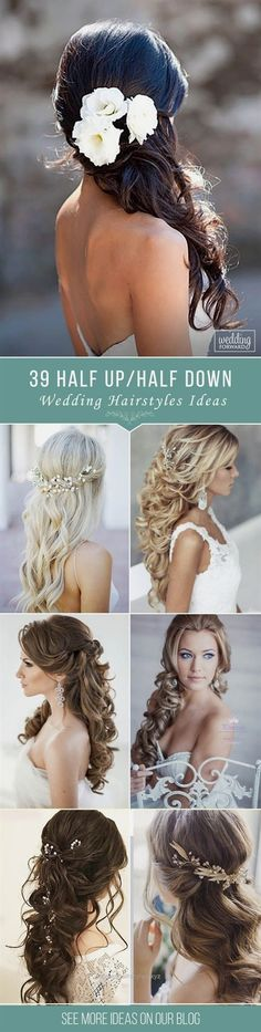 Marvelous 39 Half Up Half Down Wedding Hairstyles Ideas❤ We collected only the best ideas for half up half down hairstyles that would look perfect whether you are going for classic, boho or vintag ..