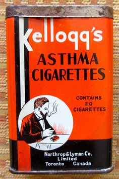 Kellogg's Asthma Cigarettes tin