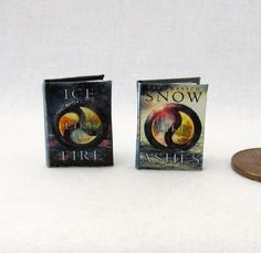 THE SNOW LIKE ASHES SERIES Dollhouse Miniature Book 1:12 Scale Readable Book #LittleTHINGSofInterest