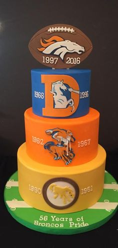 Denver Broncos Birthday Cake The Frosted Cake Boutique esther