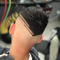 Cool Hairstyles For Men, Quick Hairstyles, Hairstyles Haircuts, Haircuts For Men, Hair Tattoo Designs, Short Hair With Beard, Faded Hair, Haircut Designs, Hair Tattoos