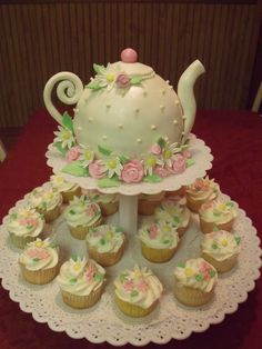 Teapot Cake In honor of my aunt's 85th birthday, her daughter threw her a suprise tea party, complete with little finger sandwiches,...
