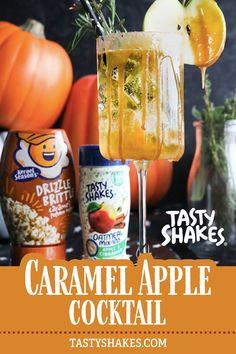 Cinnamon Apples, Caramel Apples, Cocktail Drinks, Cocktails, Kernel Season's, Natural Sugar, Apple Cider, Shake, Soda