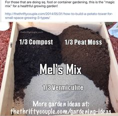 Best And Most Nutrient Rich Soil Mixture For Gardening. Best Soils For  Square Foot Or Rasied Bed Gardening, Container Gardening, Vertical Gardening  And ...