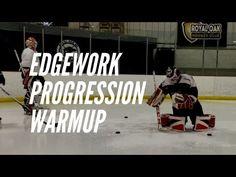 3 Part Edgework Skating Drill for Goalies (Warmup) Workout Planner, Fitness Planner, Hockey Goalie, Ice Hockey, Hockey Training, Free Summer, Goalkeeper, Drills, Lacrosse