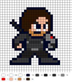 Winter Soldier Civil War Perler Bead Pattern