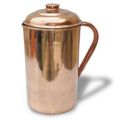 Copper Pitcher Jug With Lid Handmade Drink ware Accessories 34 Oz Set Of 1. #Buddha4all