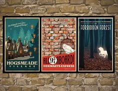 Skip the book and movie posters and opt for vintage-inspired travel ones.   29 Products That Will Transfigure Your Home Into Hogwarts