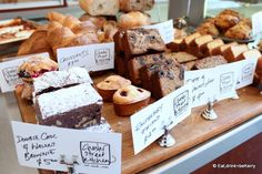 Baked goods display [Chester Street Kitchen, Newstead]