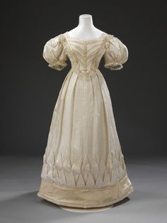 Wedding dress Place of origin: London, England (probably, made) Date: 1828