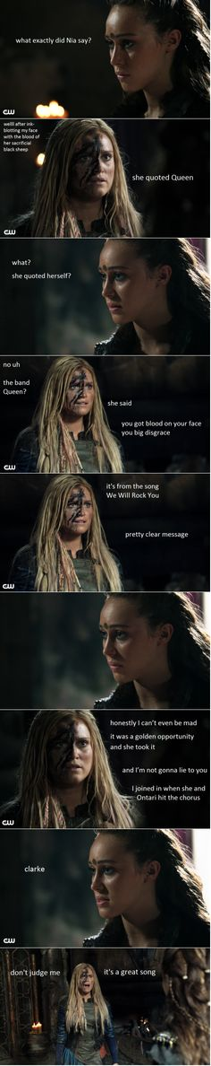 The 100 crack || Clarke Griffin and Commander Lexa || Funny || Clexa || Eliza Jane Taylor and Alycia Debnam-Carey